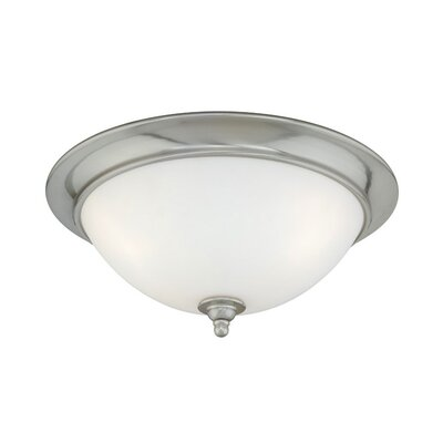 Brosnan Flush Mount Color / Size: Satin Nickel/6 H x 13 W x 13 D