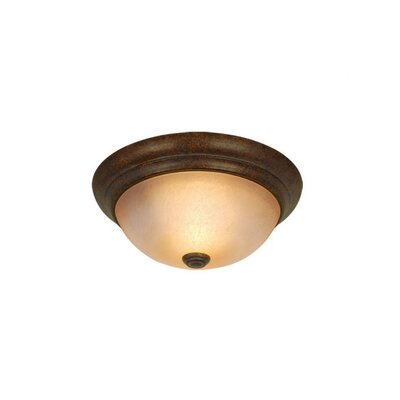 11 Flush Mount Size / Finish / Shade Color: 4.38 H x 11 W/Royal Bronze/Cognac Crackle