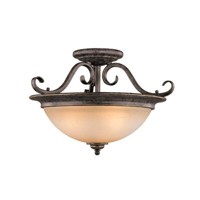Mont Blanc Semi Flush Mount Finish: Aztec Bronze