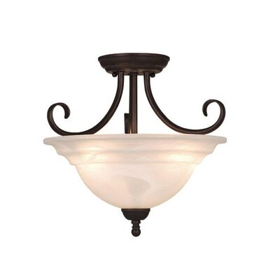 Babylon 3-Light Semi Flush Mount Finish: Oil Burnished Bronze