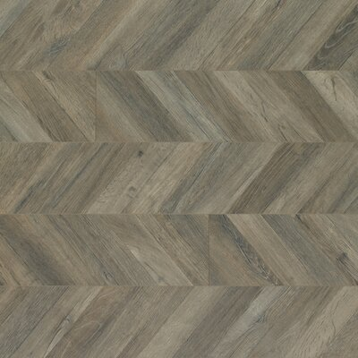 Reclaime 7.5 x 54.34 x 12 mm Contraste Laminate Flooring in Parisian Chevron
