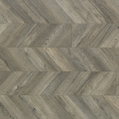 Reclaime 7.5 x 54.34 x 12 mm Gris Laminate in Parusian Chevron