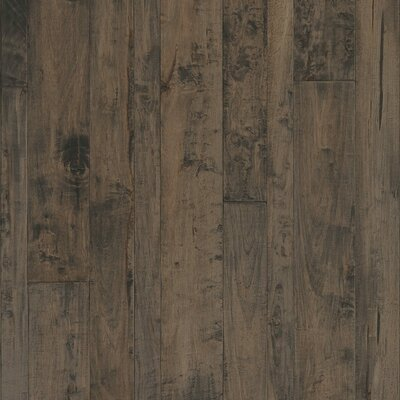 Antigua Random Width Engineered Shiranga Hardwood Flooring in Obsidian