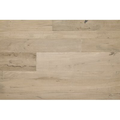 Antigua Random Width Engineered Shiranga Hardwood Flooring in Pumice