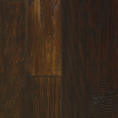 Marrakech Random Width Hickory Hardwood Flooring in Peppercorn