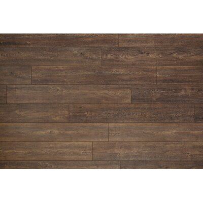Restoration Wide Plank 8'' x 51'' x 12mm Oak Laminate Flooring in Nutmeg