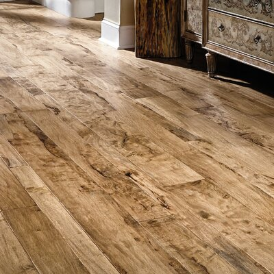 Antigua Random Width Engineered Shiranga Hardwood Flooring in Lava