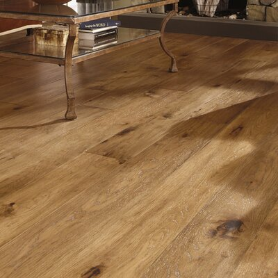 Maison 7 Engineered Hickory Hardwood Flooring in Champagne