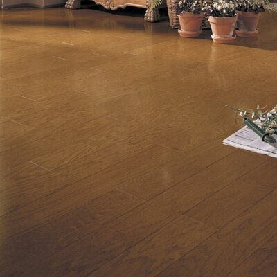 Montana Plank 5 Engineered Oak Hardwood Flooring in Saddle