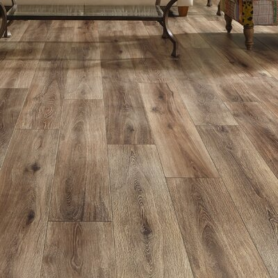 Restoration Wide Plank 8 x 51 x 12mm Laminate Flooring in Brushed Coffee
