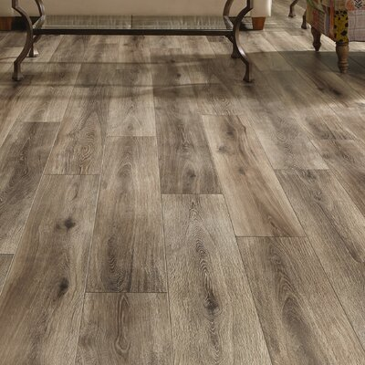 Restoration Wide Plank 8 x 51 x 12mm Laminate Flooring in Brushed Gray