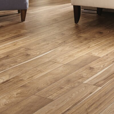 Restoration 6 x 51 x 12mm Hickory Laminate Flooring in Natural