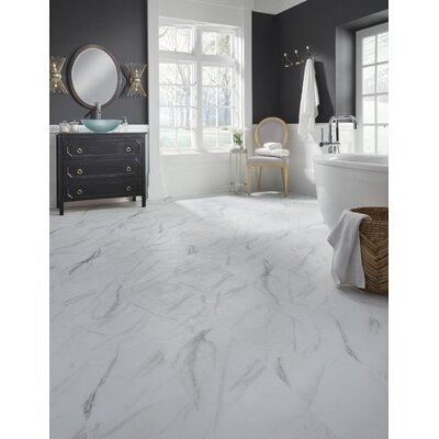 Adura Legacy Glue Down Resilient 12 x 24 x 4mm Luxury Vinyl Tile in White/Gray