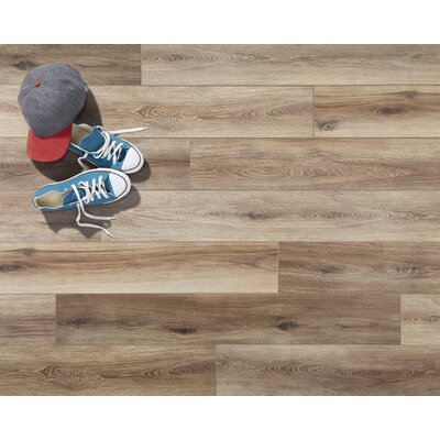 Restoration Wide Plank 8'' x 51'' x 12mm Laminate Flooring in Brushed Natural