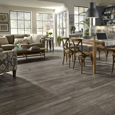 Restoration Wide Plank 8 x 51 x 12mm Oak Laminate Flooring in Iron