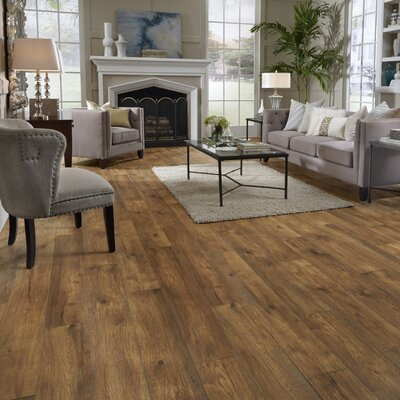 Restoration Wide Plank 8 x 51 x 12mm Hickory Laminate Flooring in Ember