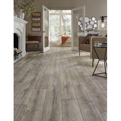Restoration Wide Plank 8 x 51 x 12mm Oak Laminate Flooring in Steam