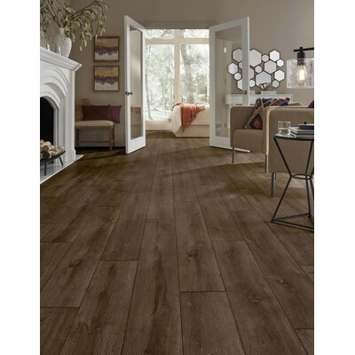 Restoration Wide Plank 8 x 51 x 12mm Oak Laminate Flooring in Rust