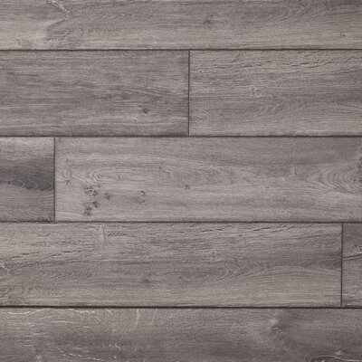 Restoration Wide Plank 8 x 51 x 12mm Oak Laminate Flooring in Anvil