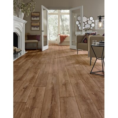 Restoration Wide Plank 8 x 51 x 12mm Oak Laminate Flooring in Flame