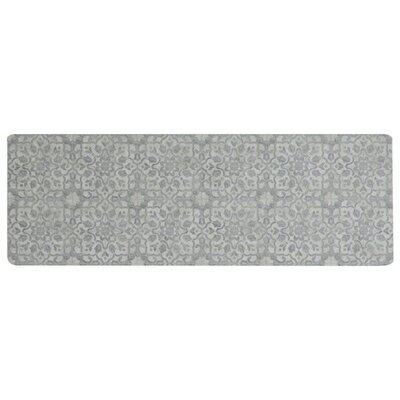 Ceres Vinyl Pewter Area Rug Rug Size: Runner 2 x 6