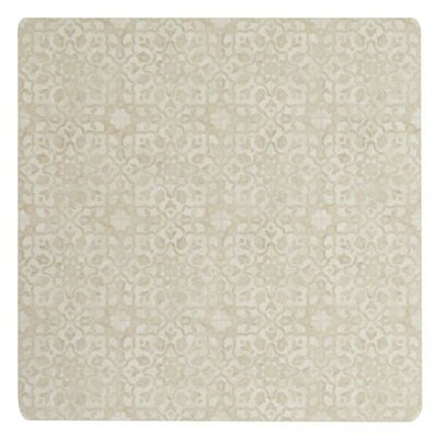 Ceres Vinyl Brass Area Rug Rug Size: Square 4