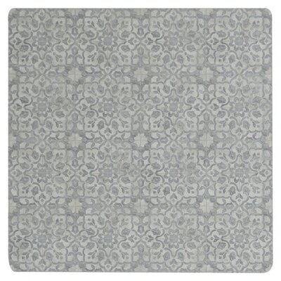 Ceres Vinyl Pewter Area Rug Rug Size: Square 4