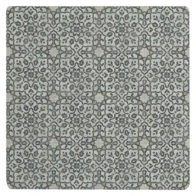 Ceres Vinyl Iron/Beige Area Rug Rug Size: Square 4
