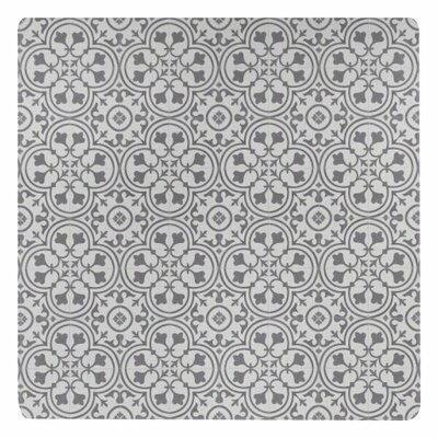 Ceres Deco Vinyl Wrought Iron/Beige Area Rug Rug Size: Square 4