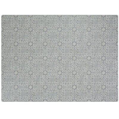 Ceres Vinyl Pewter Area Rug Rug Size: Rectangle 6 x 8