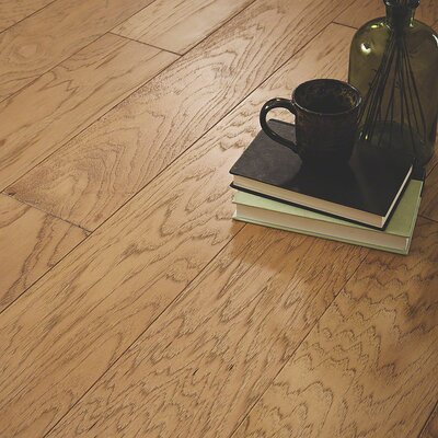 Chester Random Width Engineered Hickory Hardwood Flooring in Marty