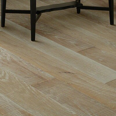 Hillsboro Random Width Engineered Hickory Hardwood Flooring in Gray