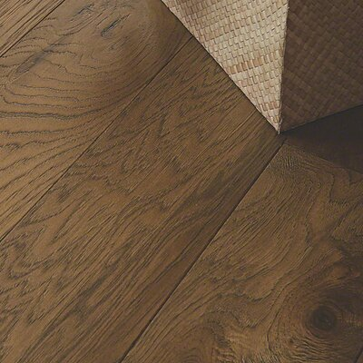 Chester Random Width Engineered Hickory Hardwood Flooring in Gray