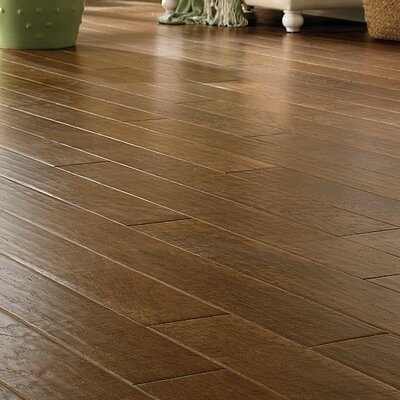 Porter 5 Engineered Hickory Hardwood Flooring in Gray