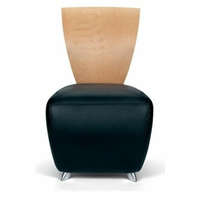 Contemporary Leather Lounge Chair Product Photo