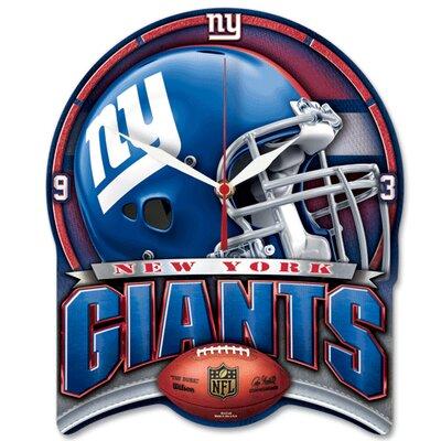 NFL High Def Plaque Wall Clock NFL Team: New York Giants