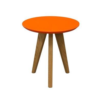 Retro End Table Color: Orange
