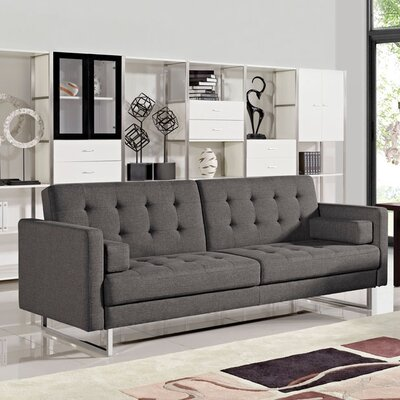 Siefert Sleeper Sofa Upholstery: Grey