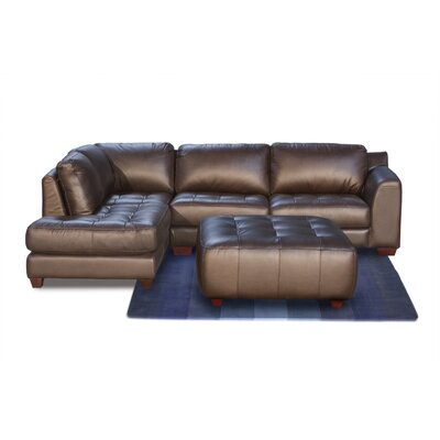 Diamond Sofa Zen Left Leather Modular Chaise Sectional at Sears.com