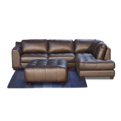 Diamond Sofa Zen Right Leather Modular Chaise Sectional at Sears.com