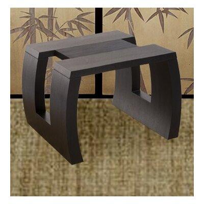 Cheap Diamond Sofa Urban Low Profile Square End Table with Contoured Legs in Dark Walnut (DSF1201)