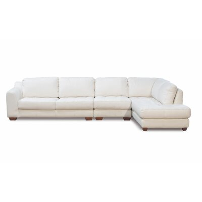 Zen Leather Armless Chair Modular Sectional