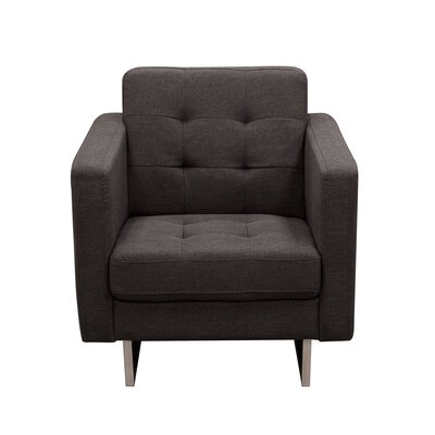 Siefert Tufted Arm Chair Color: Chocolate