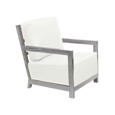 Zen Accent Armchair Upholstery: White
