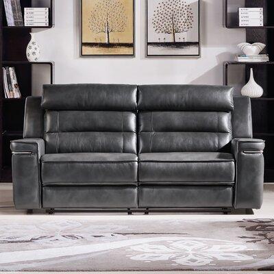 Duncan Leather Dual Reclining Sofa