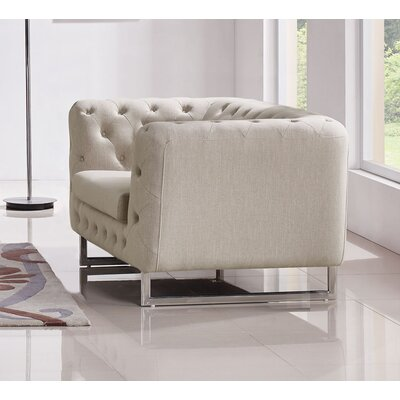 Catalina Tufted Chesterfield Chair Color: Sand