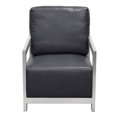 Zen Accent Arm chair Color: Black