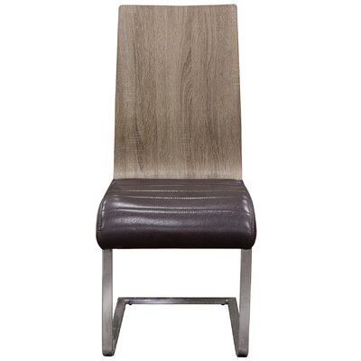 Summit Genuine Leather Upholstered Dining Chair