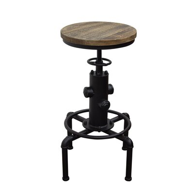 Brooklyn Adjustable Height Pub Table Finish: Black