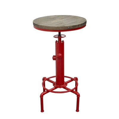 Brooklyn Adjustable Height Pub Table Color: Red